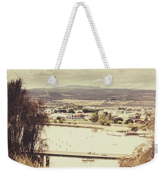Kings Bridge In Launceston Tasmania Weekender Tote Bag