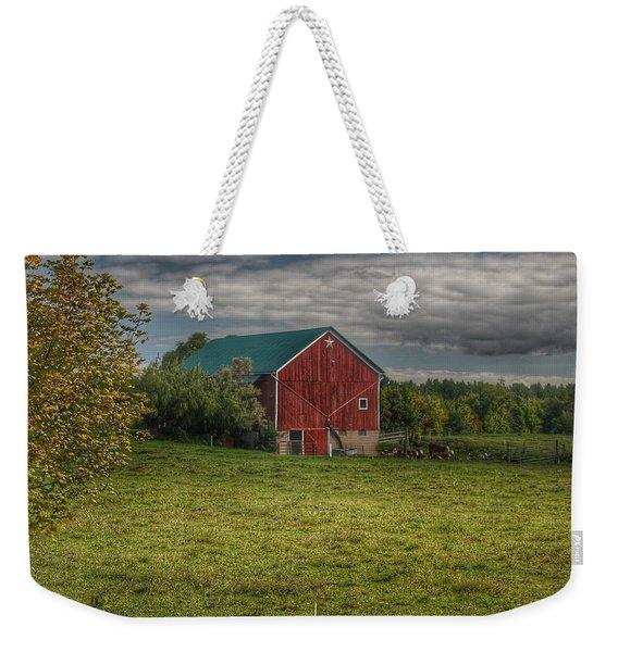 0039 - Kingston's Plain Road Cow Barn I Weekender Tote Bag