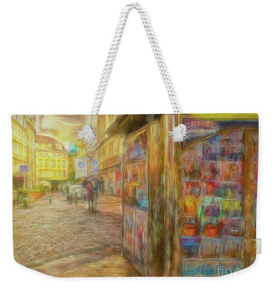 Kiosk - Prague Street Scene Weekender Tote Bag