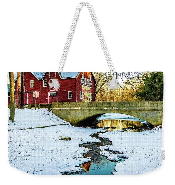 Kirby's Mill Landscape - Creek Weekender Tote Bag