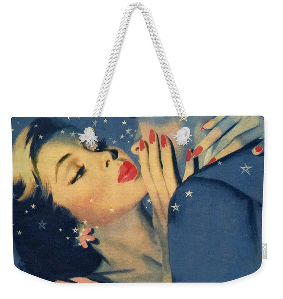Kiss Goodnight Weekender Tote Bag
