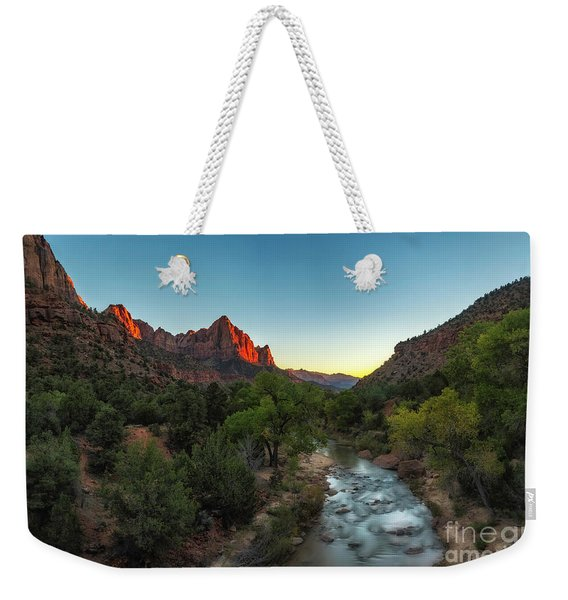 Kiss Of Light Weekender Tote Bag