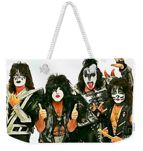 Kiss Watercolor Painting Weekender Tote Bag