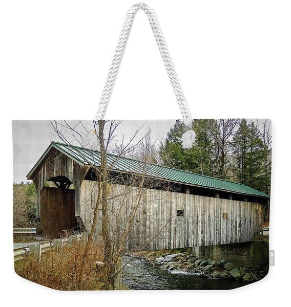 Kissing Bridge Weekender Tote Bag