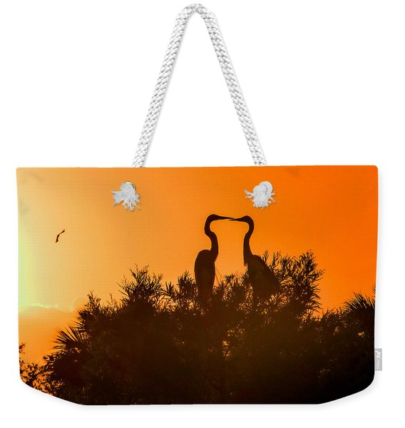 Kissing Herons  Weekender Tote Bag