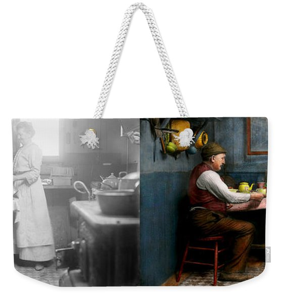 Kitchen - Morning Coffee 1915 - Side By Side Weekender Tote Bag