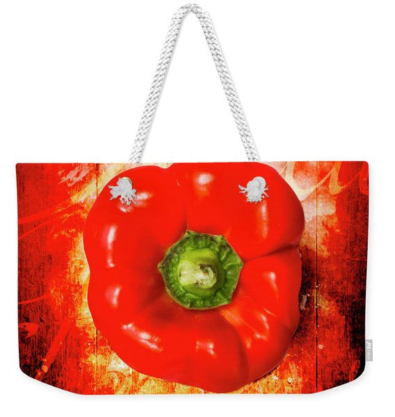 Kitchen Red Pepper Art Weekender Tote Bag