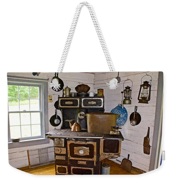 Kitchen Stove In Old Victoria-michigan  Weekender Tote Bag