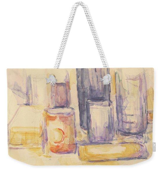 Kitchen Table  Pots And Bottles Weekender Tote Bag