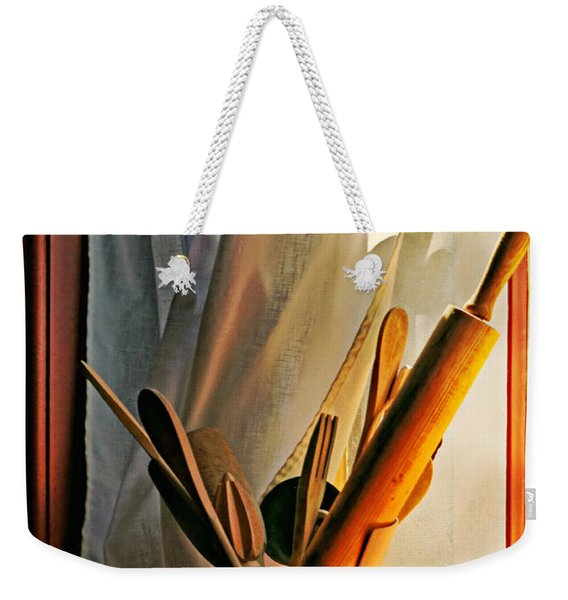 Kitchen Utensils - Window Weekender Tote Bag
