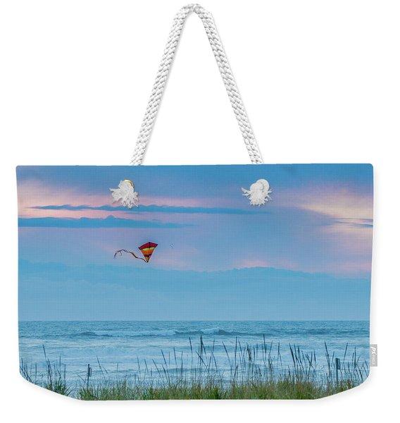 Kite In The Air At Sunset Weekender Tote Bag