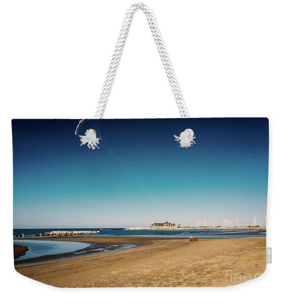 Kitesurf On The Beach Weekender Tote Bag