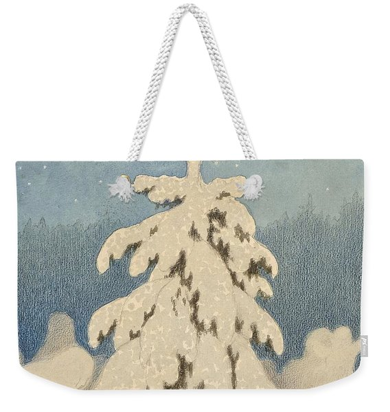 Kittelsen, Theodor 1857-1914 The Christmas Tree Weekender Tote Bag