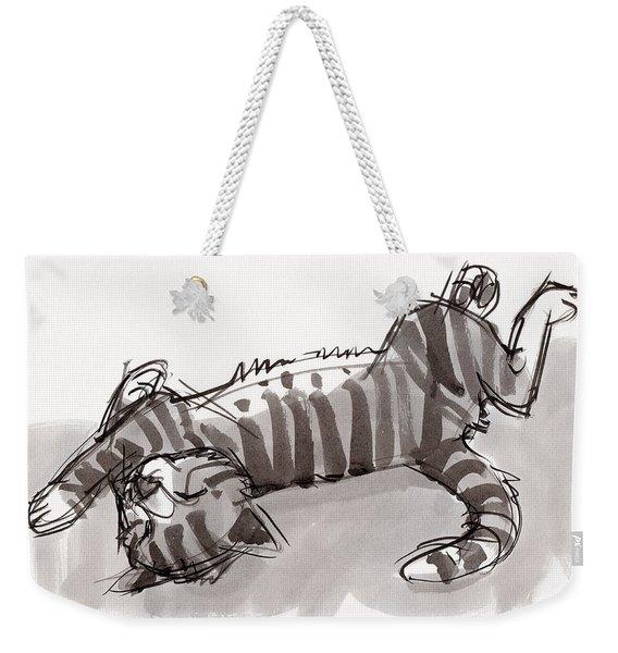 Happy Kitty Weekender Tote Bag