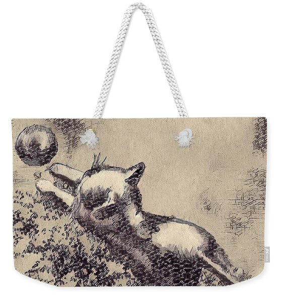 Kitten Playing With Ball Weekender Tote Bag
