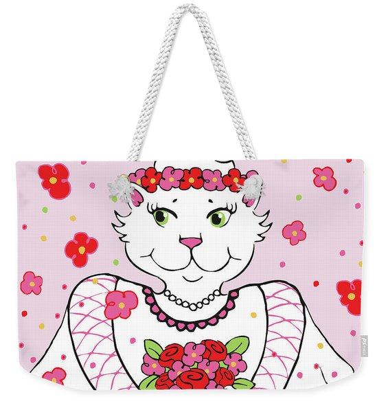 Kitty Bride Weekender Tote Bag