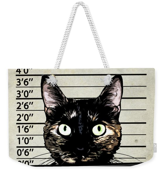 Kitty Mugshot Weekender Tote Bag