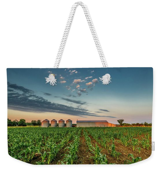 Knee High Sweet Corn Weekender Tote Bag