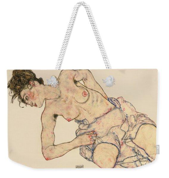 Kneider Weiblicher Halbakt Weekender Tote Bag