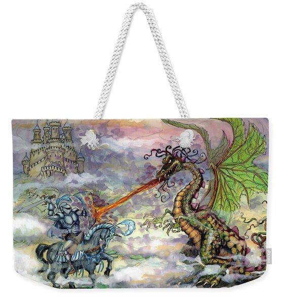 Knights N Dragons Weekender Tote Bag