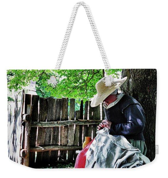 Knitting Weekender Tote Bag