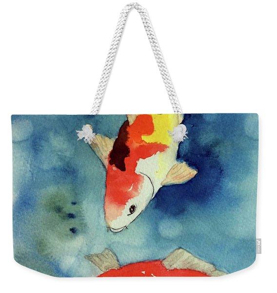 Koi Fish 3  Weekender Tote Bag