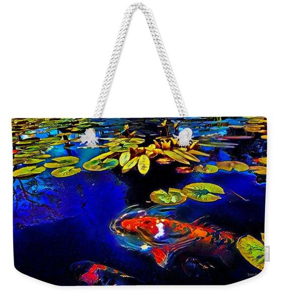 Koi In A Pond Of Water Lilies Weekender Tote Bag