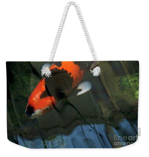 Koi Reflection Weekender Tote Bag