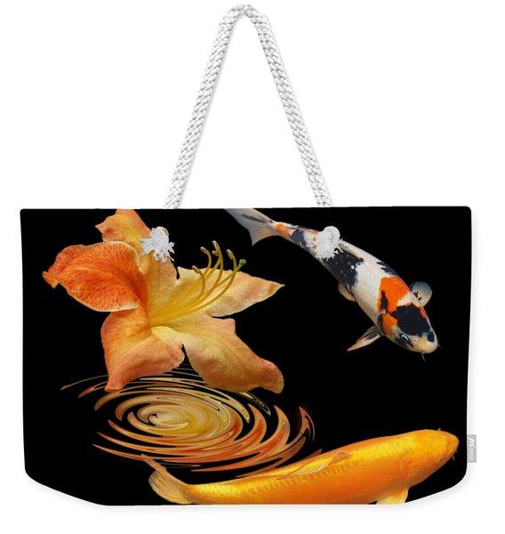 Koi With Azalea Ripples Weekender Tote Bag