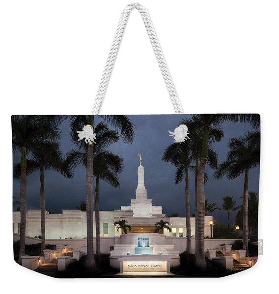Kona Hawaii Temple-night Weekender Tote Bag