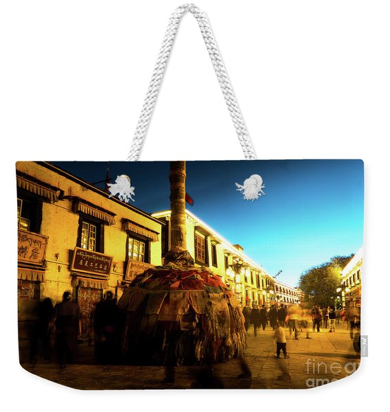 Kora At Night At Jokhang Temple Lhasa Tibet Artmif.lv Weekender Tote Bag