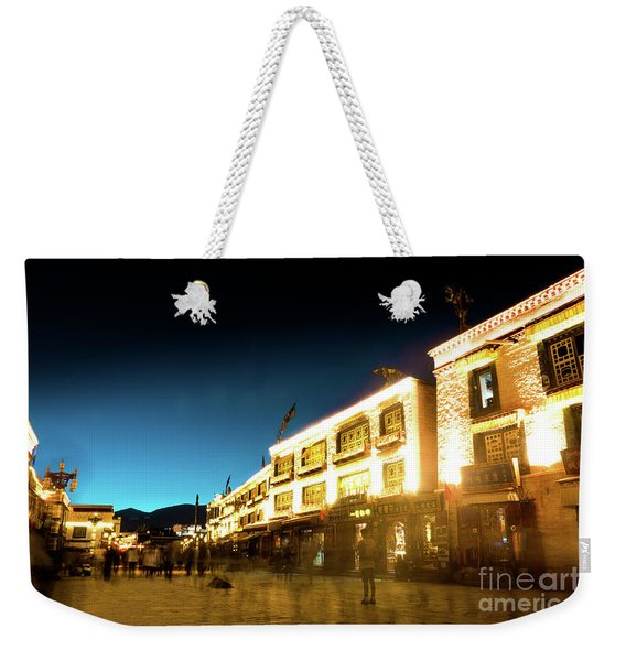 Kora At Night At Jokhang Temple Lhasa Tibet Yantra.lv Weekender Tote Bag