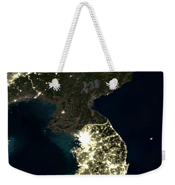 Korean Peninsula Weekender Tote Bag