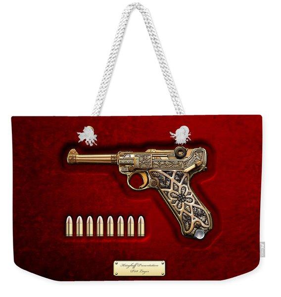 Krieghoff Presentation P.08 Luger  Weekender Tote Bag