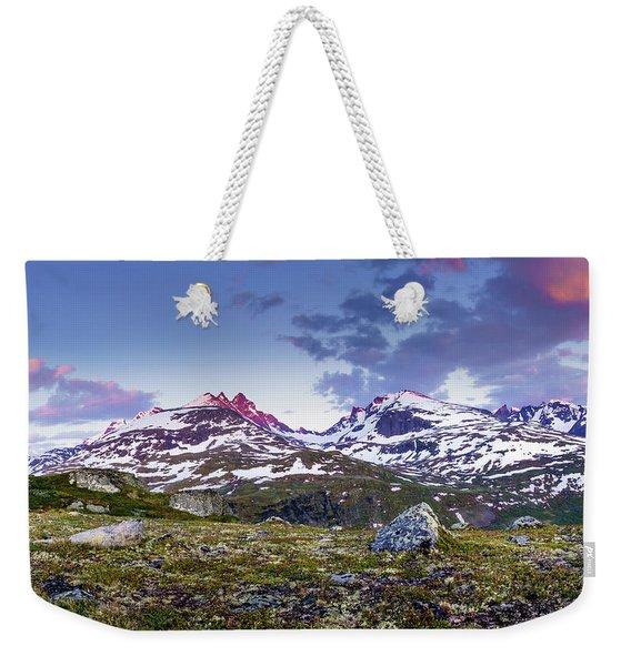 Crimson Peaks Weekender Tote Bag