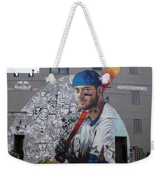 Kris Bryant Mural Weekender Tote Bag