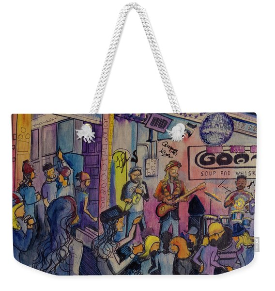 Kris Lager Band At The Goat Weekender Tote Bag