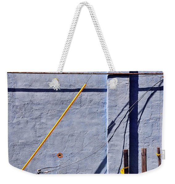Weekender Tote Bag featuring the photograph Krishna Blue by Skip Hunt