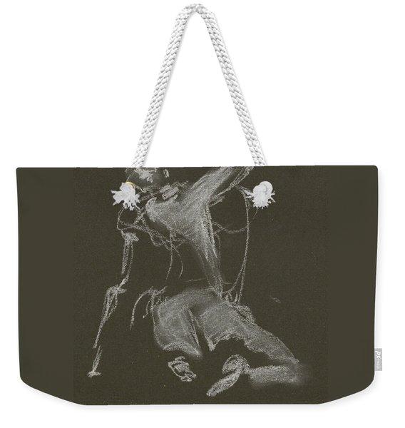 Kroki-2015-04-11-figure-drawing-white-chalk-marica-ohlsson-marica-ohlsson Weekender Tote Bag