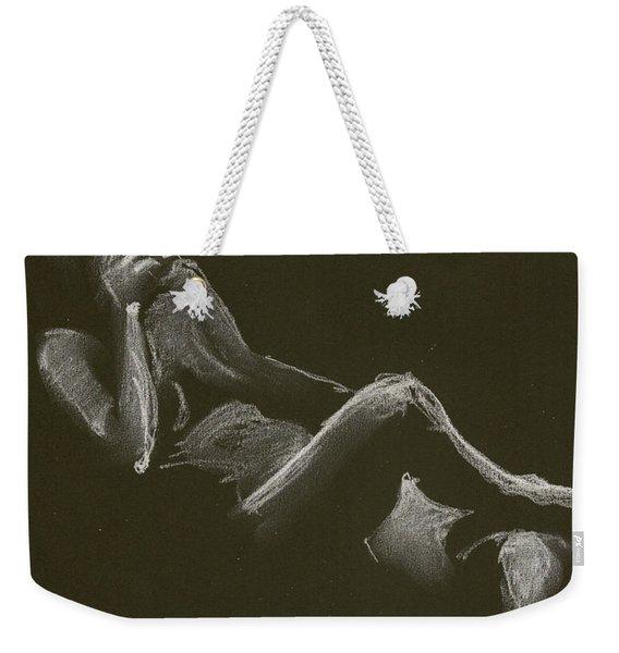 Kroki 2014 12 27_3 Figure Drawing White Chalk Weekender Tote Bag