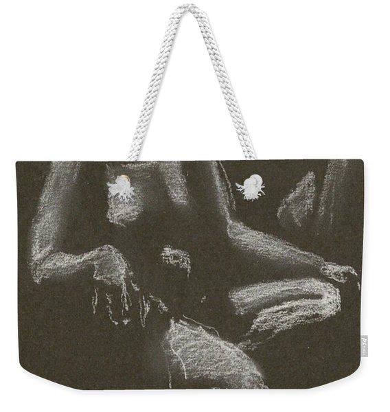 Kroki 2015 04 25 _3 Figure Drawing White Chalk Beskuren Weekender Tote Bag