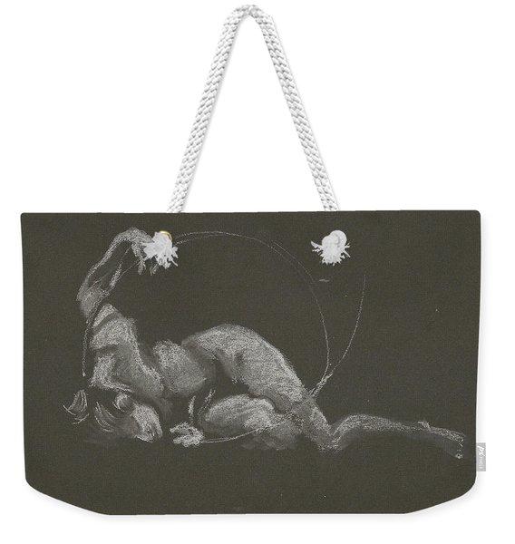 Kroki 2015 10 03_14b Figure Drawing White Chalk Weekender Tote Bag