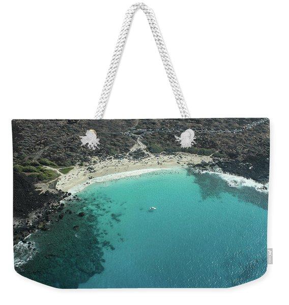 Kua Bay Aerial Weekender Tote Bag