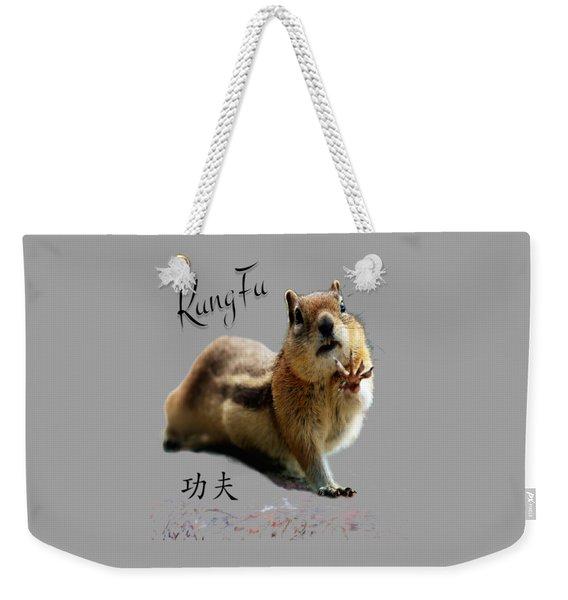 Kung Fu Chipmunk Weekender Tote Bag