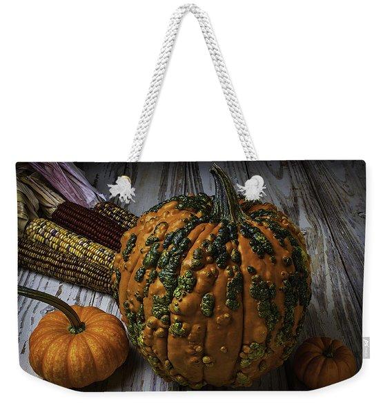 Kunklehead With Corn Weekender Tote Bag