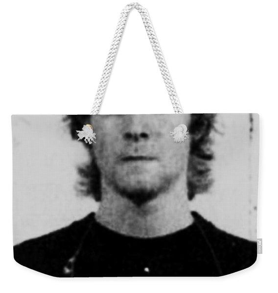 Kurt Cobain Mug Shot Vertical Black And Gray Grey Weekender Tote Bag