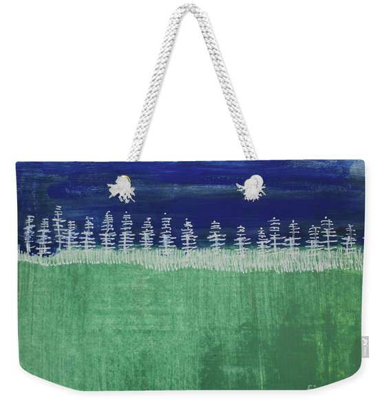 Weekender Tote Bag featuring the painting Kurt's Woods by Kim Nelson