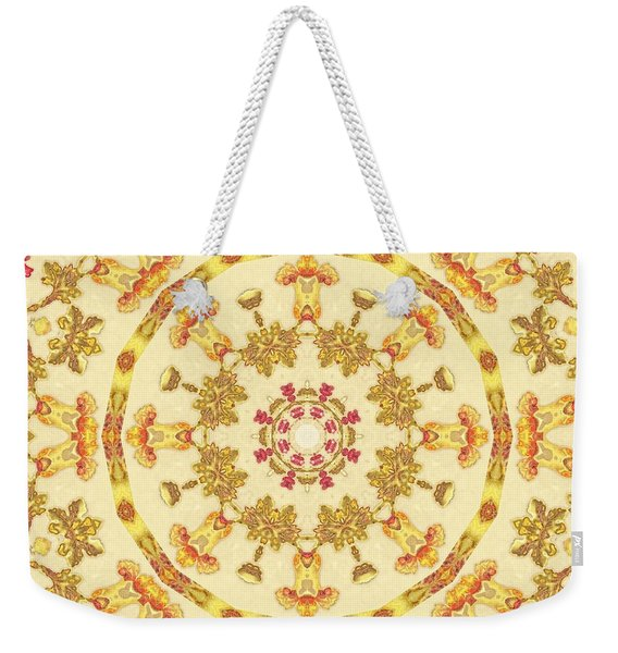 Weekender Tote Bag featuring the mixed media KV1 by Writermore Arts