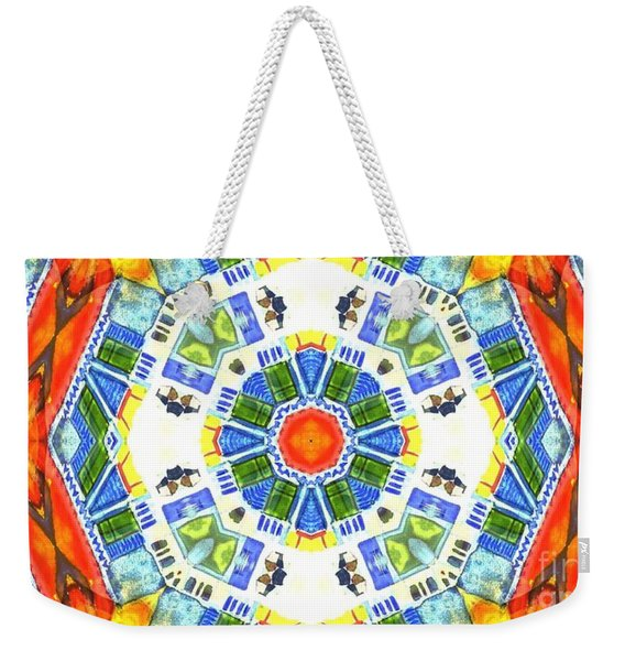 Weekender Tote Bag featuring the mixed media KV3 by Writermore Arts