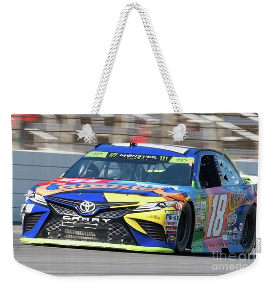 Kyle Busch Coming Out Of Turn 1 Weekender Tote Bag